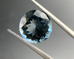 7.73 ct Natural Blue Topaz Round cut loose gemstone Ideal for mounting on j