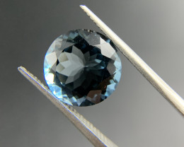7.82 ct Natural Blue Topaz Round cut loose gemstone Ideal for mounting on j