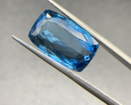 Natural Blue Topaz 12.68 ct Cushion cut swiss blue loose gemstone Ideal for