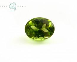 2.61 carats Natural Peridot Gemstone Oval Mixed cut