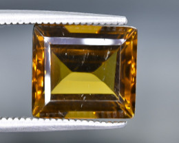 5.03 Crt Natural  Conic Quartz Faceted Gemstone.( AB 58)