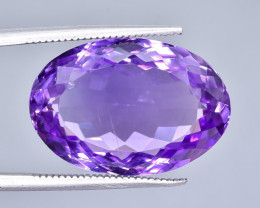 20.56 Crt Natural Amethyst Faceted Gemstone.( AB 58)