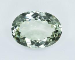 13.42 Crt Natural Green prasiolite Amethyst  Faceted Gemstone.( AB 58)
