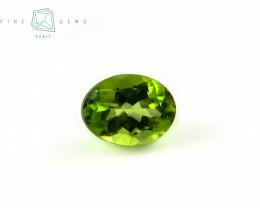 2.76 carats Natural Peridot Gemstone Oval Mixed cut