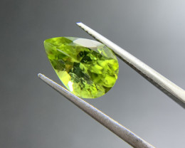3.58 ct Natural Peridot Pear Cut Green Loose Gemstone Ideal for mounting on
