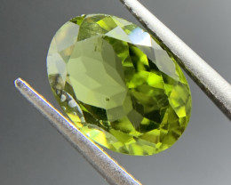 3.33 ct Natural Peridot Oval Cut Green Loose Gemstone Ideal for mounting on
