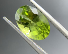 3.49 ct Natural Peridot Oval Cut Green Loose Gemstone Ideal for mounting on