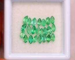 1.48ct Natural Zambia Green Emerald Marquise Cut Lot GW7077