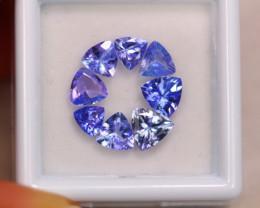 3.24ct Natural Violet Blue Tanzanite Trillion Cut Lot GW7304