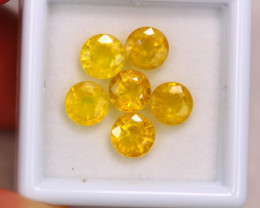 5.65ct Natural Yellow Sapphire Round Cut Lot GW7079