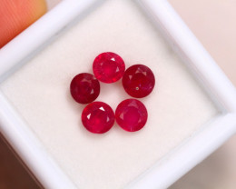 3.40ct Blood Red Color Ruby Round Cut Lot GW7082