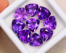 10.54ct Natural Purple Amethyst Trillion Cut Lot GW7086