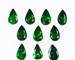 ~VIVID~ 2.32 Cts Natural Tsavorite Garnet 5x3mm Pear Cut 10Pcs Kenya