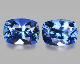 2.86 Cts 2pcs Amazing rare Blue Color Natural Tanzanite Gemstone