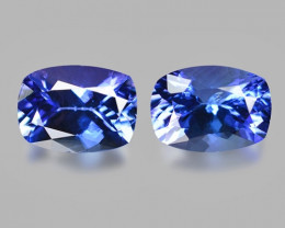 2.88 Cts 2pcs Amazing rare Blue Color Natural Tanzanite Gemstone