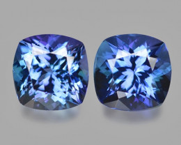 3.01  Cts 2pcs Amazing rare Blue Color Natural Tanzanite Gemstone