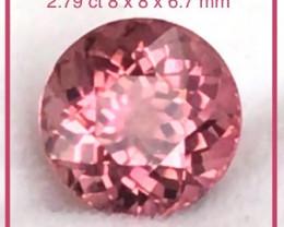 Reddish Pink Pretty Colour Change Tourmaline Ref 2322