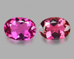 1.75 Cts 2pcs Un Heated Pink Color Natural Rubellite  Loose Gemstone