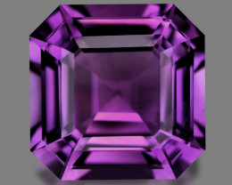 Asscher custom precision cut natural amethyst.
