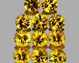 2.60 mm Round 11 pcs 1.00cts Yellow Sapphire [VVS]