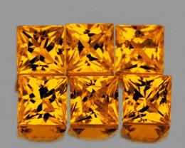 2.70 mm Square Princess 6 pcs Yellow Sapphire [VVS]
