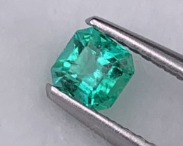 Colombian Natural Emerald Vivid Green Color Good Quality 0.32 Cts.