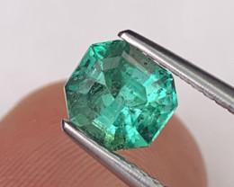 Colombian Natural Emerald Master Cut 0.94 Cts Vivid Green Color