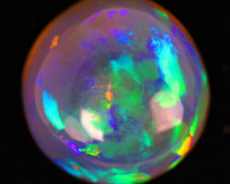 27.19cts Museum Amazing OPAL Rainbow Play of Color MAPLE LEAF Pattern