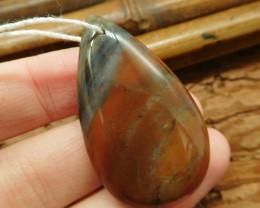 Fancy agate pendant bead (G1926)