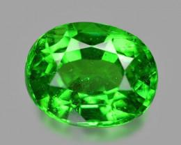 0.65 Cts Amazing Rare Un Heated Vivid Green Natural Tsavorite Garnet Gemsto
