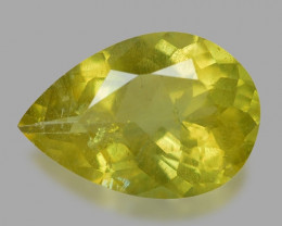 2.29 Cts Un Heated Yellow Green Natural Apatite Loose Gemstone