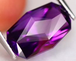 Amethyst 5.82Ct VVS Precision Cut Natural Uruguay Violet Amethyst AN0256