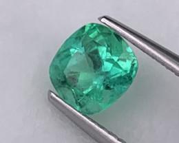 Vivid Green AAA+ Grade Colombian Natural Emerald 0.90 Carats