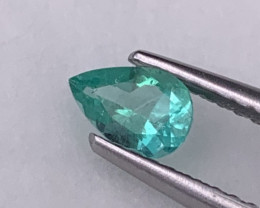 Fine Quality Colombian Natural Emerald Vivid Green Color Lustrous 0.28 Cts