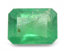 1.56 ct Emerald Cut Emerald-$1 No Reserve Auction