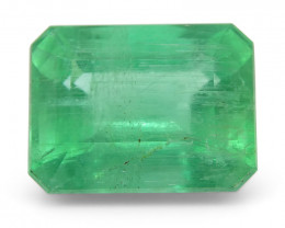 2.2 ct Emerald Cut Emerald-$1 No Reserve Auction *FREE SHIPPING*