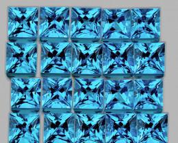 1.80 mm Square 70pcs 2.83cts Light Swiss Blue Topaz [VVS]