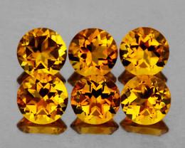 5.00 mm Round 6 pcs 2.80cts Golden Orange Citrine [VVS]