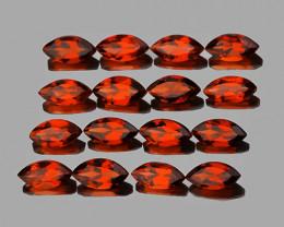 6x3 mm Marquise 16 pcs 4.82cts Orange Red Garnet [VVS]