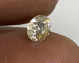 (6) Certified  Fiery 0.52cts  White Diamond Round  Natural K Color