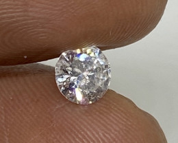 (5) Stunning Certified 0.71cts  White Diamond F Color