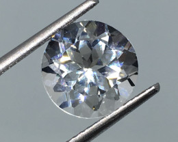 3.25 Carat VVS Topaz - Diamond White Color Precision Cut !