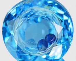 2.65 Cts Doublet Topaz & Blue Sapphire Inside Round Brazil & Sri Lanka