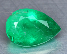 0.90 Cts Natural Earth Mined Vivid Green Color Emerald Gemstone