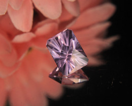 Master Cut Amethyst Rose De France Gemstone Fancy Cut by Master Cutter