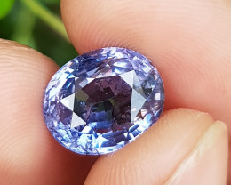 NO TREAT 6.98 CTS CERTIFIED NATURAL STUNNING VIOLETISH BLUE SPINEL SRI LANK