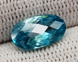 2.85CT NATURAL BLUE ZIRCON BEST QUALITY GEMSTONE IIGC22
