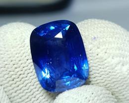 TOP 9.59 CTS NATURAL STUNNING CUSHION CUT CORNFLOWER BLUE SAPPHIRE SRI LANK