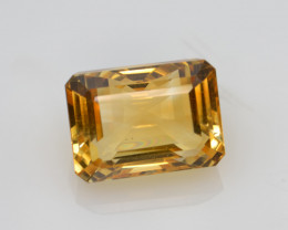 Natural Citrine 6.38 Cts Faceted Gemstone