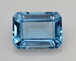 Natural Sky Blue Topaz 14.28 Cts Good Luster